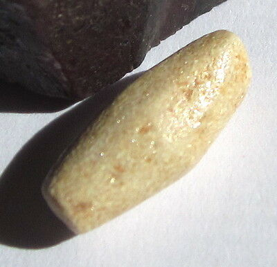 RARE AMAZING ANCIENT FACETED OVAL MALI STONE BEAD 7mm x 15mm