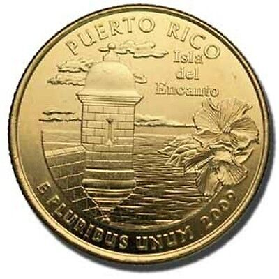 2009 Puerto Rico 24Kt Gold Plated Quarter (P)