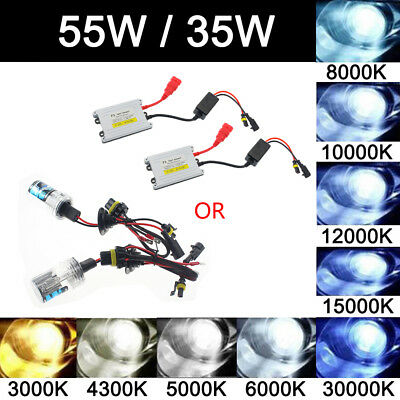 One Pair 35W/55W XENON HID REPLACEMENT BULBS LAMP H1 H3 H7 H11 9005