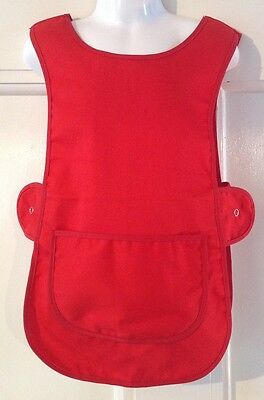 Wholesale Job Lot 10 Brand New Kids Childrens Tabards Aprons Red Clothes Craft