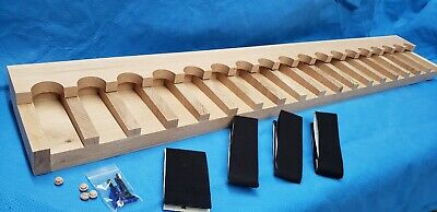 18 gun - wood closet gun rack with floor base- Solid Oak