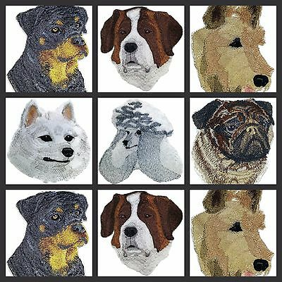 Custom Dog Faces No. -ll)Embroidered Iron On Patches