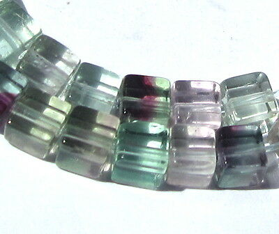48 Beautiful Old Small Mixed Cube Vintage Glass Beads