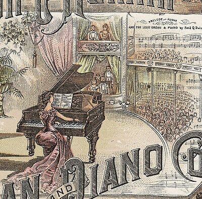 Piano Concert Hall Mason & Hamlin Organ Exposition Medals Advertising Trade Card