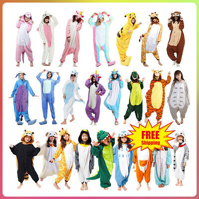 Hot Unisex Adult Kids Pajamas Kigurumi Cosplay Costume Animal Sleepwear Bodysuit
