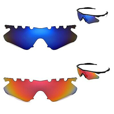22bb81646ad New Walleva Polarized Fire Red+ Ice Blue Vented Lenses For Oakley M Frame  Heater