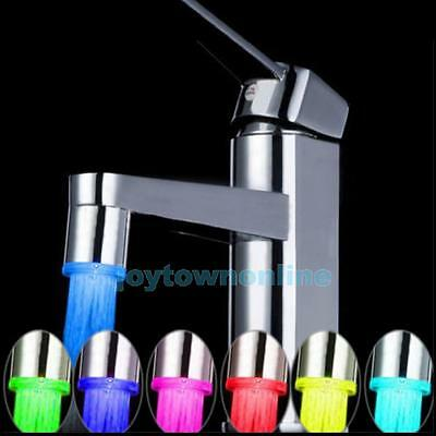 Temperature Sensor LED Light Water Faucet Tap Glow Shower RGB Stream Gadgets