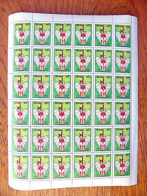 GUYANA Wholesale 1985 Cricket 60c Clive Lloyd Sheet of 36 NEW LOWER PRICE FP2439