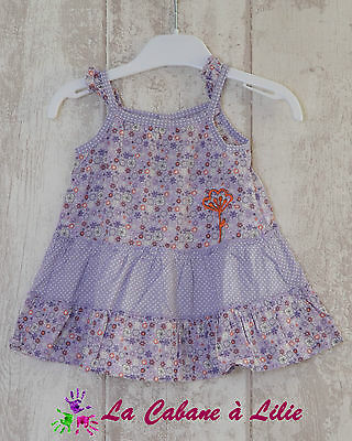 ♥ Robe Tunique Parme Violet Orange Rose Bretelle ORCHESTRA 6 Mois ♥ L505