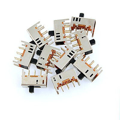 10 x SS22H02 On-On 2 Position 2P2T DPDT Miniature Slide Switch 6 Pin 0.3A 50V DC