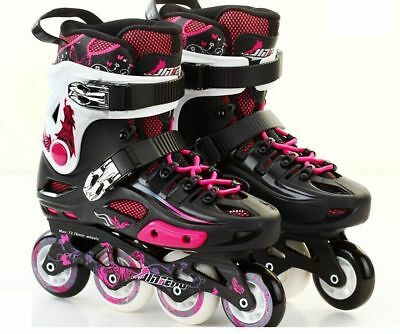 Quality JINFENG S500 Roller Blades Inline Skates Size37 Women4-4.5 PNK