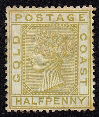 Gold Coast 1883 ½d. olive-yellow, MH (SG#9)