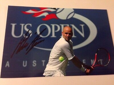 ANDRE AGASSI  signed 4x6 photo AUTO US Open Tennis Star