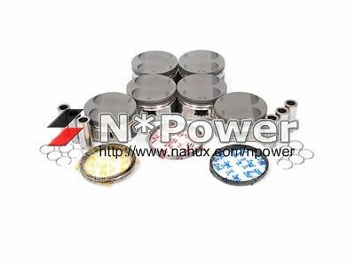HYPATEC PISTON & HASTINGS RING SET STD for HOLDEN COMMODORE VL RB30 TURBO RB30ET