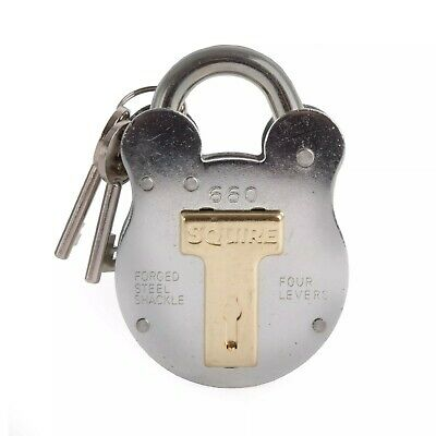 Squire 660 64mm old english padlock 4 lever lock useful for gate and shed