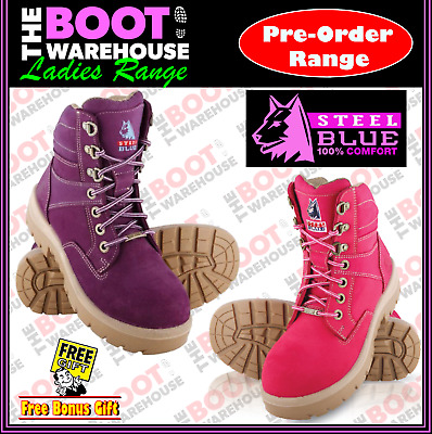 Steel Blue Southern Cross LADIES 522760.  Steel Toe Cap Safety Work Boots.