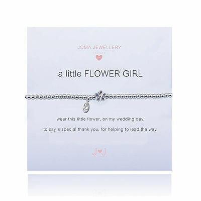 Joma Jewellery Silver Plated a little flower girl kids bracelet gift bag wedding