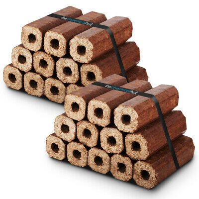 Eco Wooden Fire Fuel Heatlogs Briquettes Firewood for Open Stove Log Burners Pit