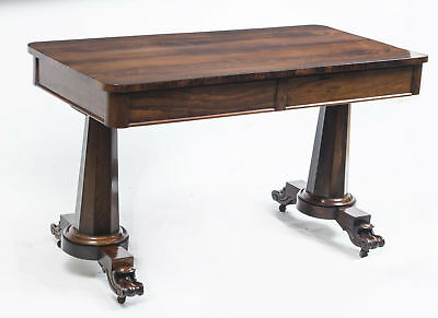 Antique William IV Rosewood Writing Sofa Table c.1830