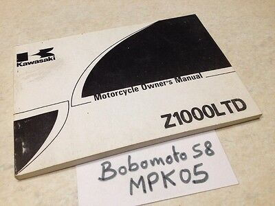 Manuel propriétaire Kawasaki Z1000LTD Z1000 LTD custom owner's manual ed. 80