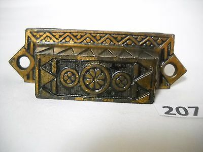 Antique Cast Iron Bin Drawer Pull