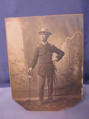 Original Span-Am Cabinet Photo of Named Infantry Officer ~ LARGE GREAT PHOTO!!!!