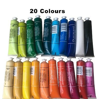 Acrylic Paint Set Folk Art Paint Fabric Paint Craft Paint Acrylic 10x75ml Set Y