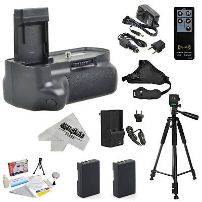 Power Battery Grip + Tripod + 2 battery for Canon EOS Rebel T3 T5 1100D 1200D