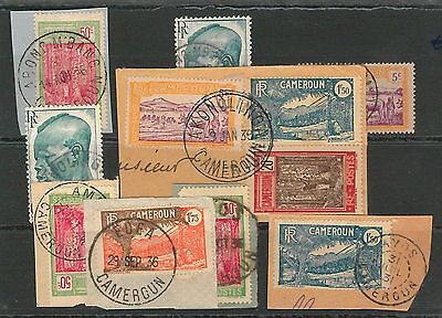 CAMEROON - POSTAL HISTORY: Small lot of used stamps with nice POSTMARKS #12