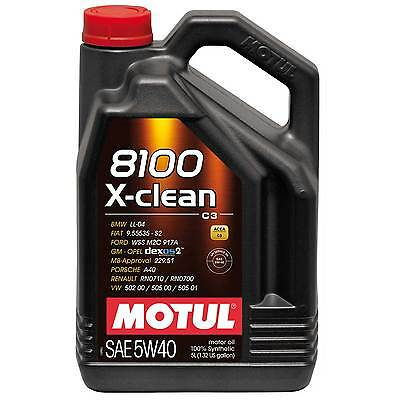 Motul 8100 X-Clean 5W40 Fully Synthetic Engine Oil - 20 Litres