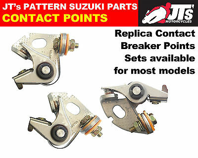 SUZUKI GT380 J K L M A B CONTACT POINTS .full set of 3 points MADE IN JAPAN
