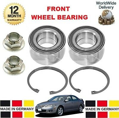 FOR MAZDA 6 2.0 2.2 MZR CD 2007-->ON NEW 2 x FRONT WHEEL BEARING KITS