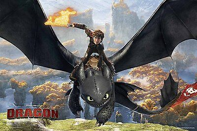How To Train Your Dragon - Toothless Flying POSTER 61x91cm NEW * Hiccup