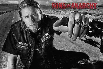 Sons of Anarchy - Jackson on Bike POSTER 60x90cm NEW * Charlie Hunnam Jax Teller