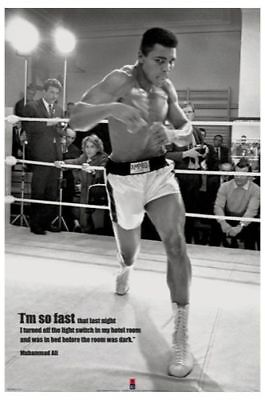 Muhammad Ali Training POSTER 61x91cm NEW I am so fast quote boxing champion