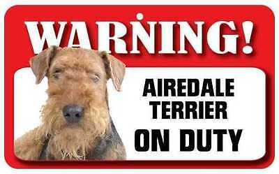 Airedale Terrier Dog Pet Sign DS001