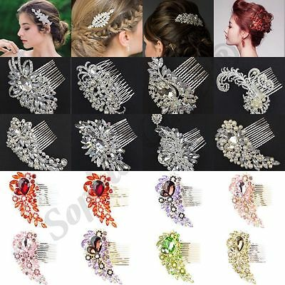 New Diamond Bridal Hair Comb Prom Party Fancy Dress Wedding Bridal Hair Clip B3