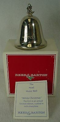 REED & BARTON silver NOEL - MUSICAL BELL 1980 Dreaming of a White Christmas