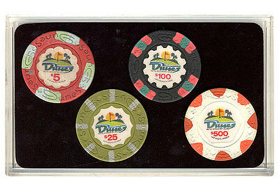 The Dunes Las Vegas Casino Collector Poker Chip Set  Authentic Dunes Chips *