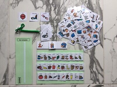 PECS/Boardmaker card set for autism/ASD/ADHD/visual learning & communication