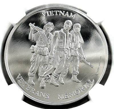 1984 Palladium Perth Mint Vietnam Veterans Memorial 1 Oz Medal Ngc Proof 69 Uc