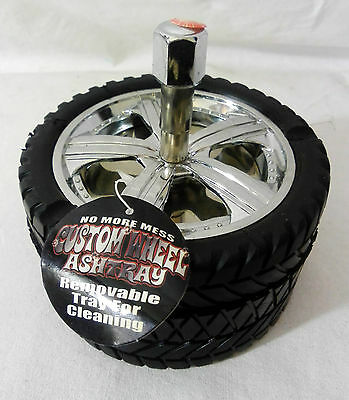 Customised Alloy Wheel Car Tyre Novelty Gift Revolving Ashtray Ash tray