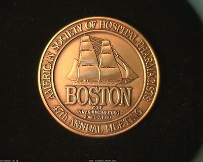 "47th Annual American Society of Hospital Pharmacists ""BOSTON"" Large Bronze Medal"