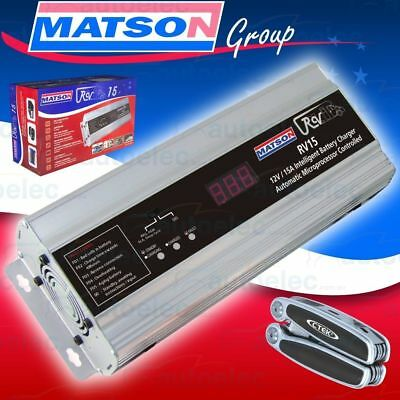 Matson 7 Stage 15A Amp 12V Volt Agm Deep  Cycle Battery Charger + Ctek Multitool