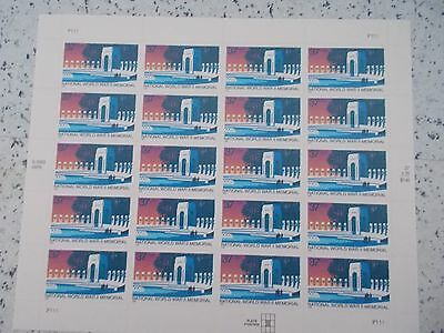 #3862 2003 NATIONAL WW II MEMORIAL Mint MHN SHEET  20 37 Cent US Postage Stamps