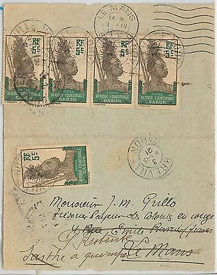 French Colonies: GABON  -  POSTAL HISTORY - CARD to FRANCE 1921