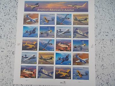 #3916 2004 AMERICAN ADVANCES IN AVIATION MHN PANE 20 37 Cent Postage Stamps Mint