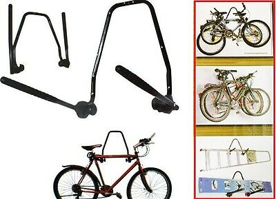 2Bike Wall Mounted Bicycle Hanger Cycle Storage Mount Hook Holder Stand Rack New
