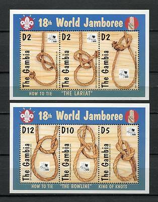 27814) GAMBIA 1995 MNH** Nuovi** Scout - King of knots S/S