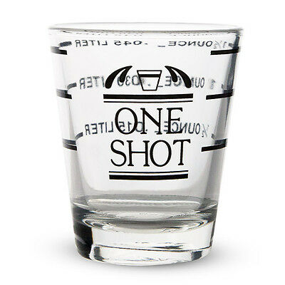 Measured Shot Glass - 1 1/2 oz - Half Ounce Measurements - Home Bar Drink Mixing